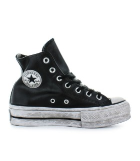 CONVERSE ALL STAR PLATFORM BLACK LEATHER SNEAKER