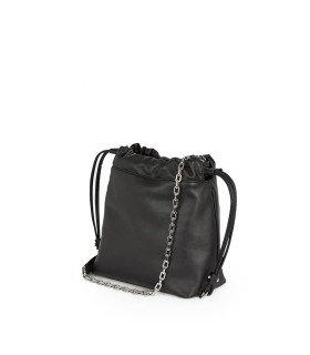 KARL LAGERFELD K/SOHO GRAFFITI BLACK BUCKET BAG