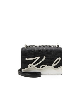 KARL LAGERFELD K/SIGNATURE BLACK WHITE CROSSBODY BAG