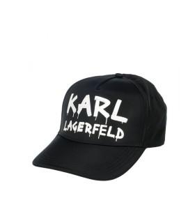 CAPPELLO DA BASEBALL K/GRAFFITI NERO BIANCO KARL LAGERFELD