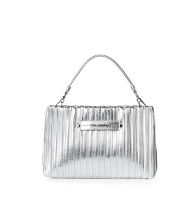 KARL LAGERFELD K/KUSHION SILVER CLUTCH