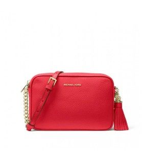 MICHAEL KORS BRIGHT RED GINNY MEDIUM CROSSBODY BAG