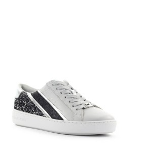 MICHAEL KORS SLADE LACE UP GREY SILVER SNEAKER