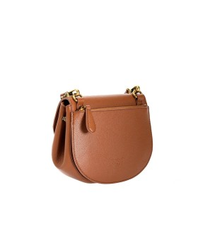PINKO LOVE GO-ROUND SOFT LIGHT BROWN CROSSBODY BAG