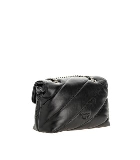 PINKO LOVE MINI PUFF MAXI QUILT BLACK CROSSBODY BAG