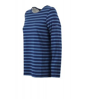 SAINT JAMES MINQUIDAME NAVY BLUE LONG SLEEVE SHIRT