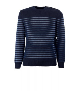 SAINT JAMES BINIC NAVY BLUE SWEATER