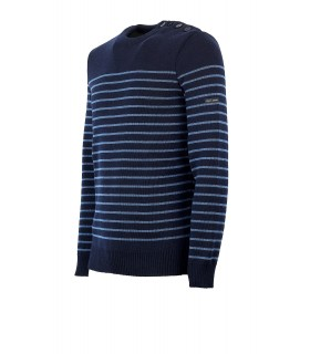 PULLOVER BINIC BLU NAVY SAINT JAMES