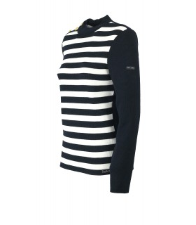 PULLOVER AMPHITRITE R BLU NAVY BIANCO SAINT JAMES