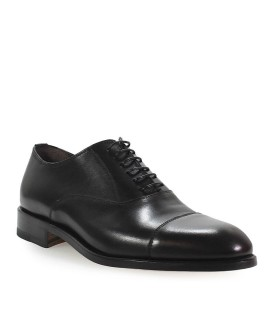MORESCHI BLACK LEATHER OXFORD LACE UP