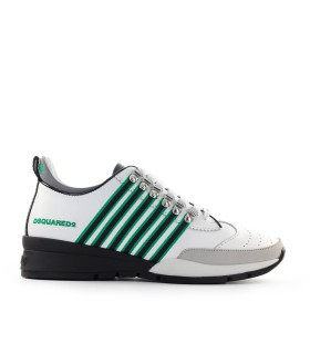DSQUARED2 251 WHITE EMERALD GREEN SNEAKER