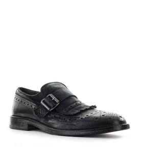MOMA BLACK LOAFER WITH FRINGE