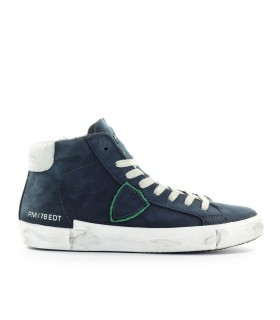 PHILIPPE MODEL PRSX NAVY BLUE HIGH TOP SNEAKER