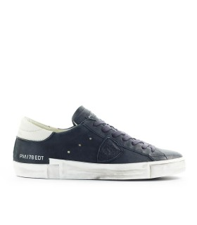 PHILIPPE MODEL PRSX NAVY BLUE LEATHER SNEAKER