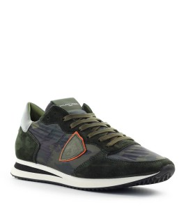 PHILIPPE MODEL TRPX CAMOUFLAGE MILITARY GREEN SNEAKER