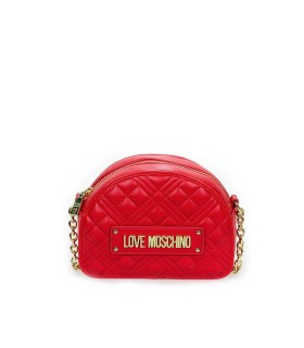 LOVE MOSCHINO QUILTED NAPPA RED SMALL CROSSBODY BAG