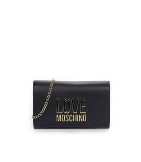 LOVE MOSCHINO BLACK CLUTCH WITH LOGO