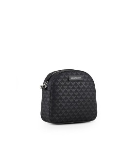 EMPORIO ARMANI MONOGRAM BLACK SMALL CROSSBODY BAG