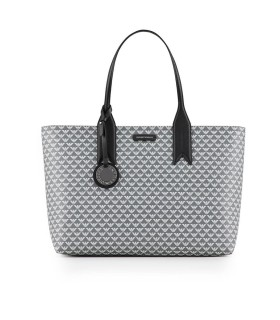 BORSA SHOPPING MONOGRAM ANTRACITE BIANCO EMPORIO ARMANI