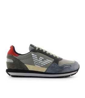 EMPORIO ARMANI TAUPE SNEAKER WITH LOGO