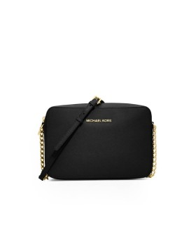 MICHAEL KORS JET SET BLACK LARGE CROSSBODY BAG