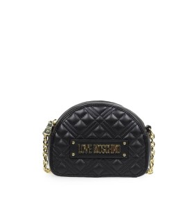 LOVE MOSCHINO QUILTED NAPPA SMALL BLACK CROSSBODY BAG