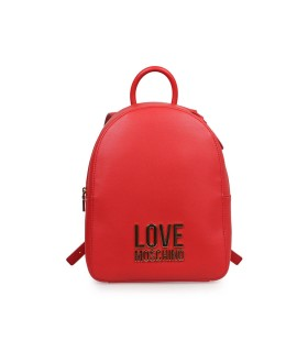 LOVE MOSCHINO RED BACKPACK WITH LOGO