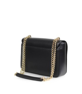 LOVE MOSCHINO BLACK LARGE CROSSBODY BAG WITH LOGO