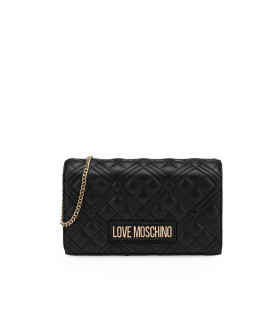CLUTCH QUILTED NAPPA NERA LOVE MOSCHINO