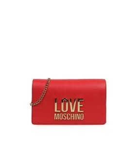 CLUTCH ROJO LOGO LOVE MOSCHINO
