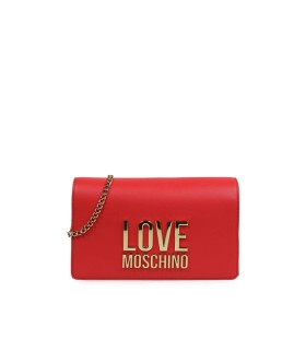 CLUTCH ROSSA LOGO LOVE MOSCHINO