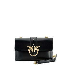 PINKO LOVE MINI SOFT BLACK CROSSBODY BAG