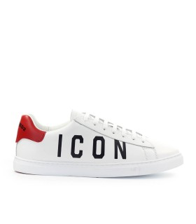 SNEAKER NEW TENNIS BIANCO ROSSO DSQUARED2