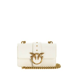 PINKO LOVE MINI ICON SIMPLY 4 C WHITE CROSSBODY BAG