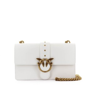 PINKO LOVE CLASSIC ICON SIMPLY 8 C WHITE CROSSBODY BAG