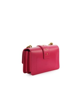 PINKO LOVE MINI ICON SIMPLY 4 C MAGENTA CROSSBODY BAG