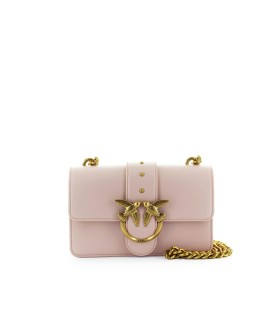 PINKO LOVE MINI SIMPLY 4 C SOFT PINK CROSSBODY BAG