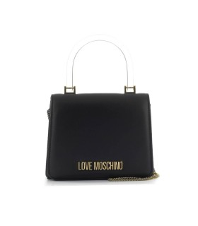 LOVE MOSCHINO BLACK NAPPA HANDBAG