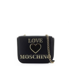 LOVE MOSCHINO BLACK MEDIUM CROSSBODY BAG WITH LOGO