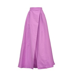 PINKO PROPENSO TAFFETA PURPLE LONG SKIRT