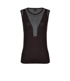 TOP PLAYOFF NERO LANA LUREX PINKO