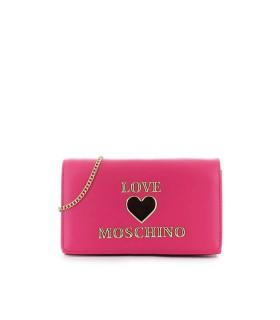 LOVE MOSCHINO FUCHSIA CLUTCH WITH LOGO