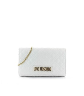 CLUTCH QUILTED NAPPA BIANCA LOVE MOSCHINO