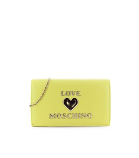 CLUTCH GIALLA LOGO LOVE MOSCHINO