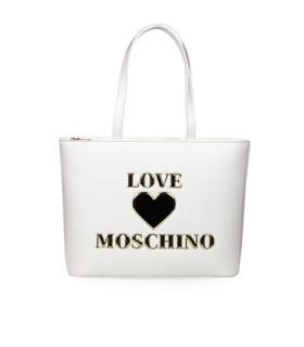BORSA SHOPPING BIANCA LOGO LOVE MOSCHINO
