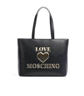 BOLSO SHOPPING NEGRO LOGO LOVE MOSCHINO