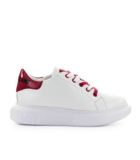 LOVE MOSCHINO WHITE CHERRY RED SNEAKER