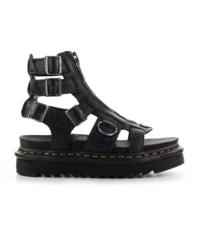 DR. MARTENS OLSON BLACK LEATHER SANDAL