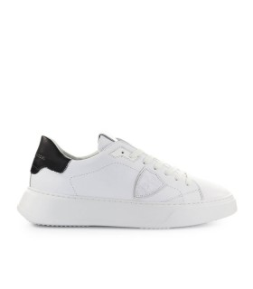 PHILIPPE MODEL TEMPLE WHITE BLACK LEATHER SNEAKER