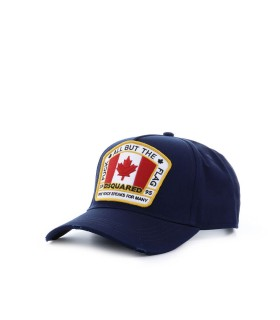 DSQUARED2 NAVY PATCH BASEBALL CAP